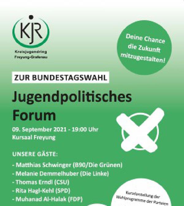Podiumsdiskussion beim Kreisjugendring Freyung mit Matthias Schwinger